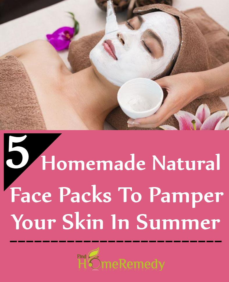 Natural Face Packs To Pamper Your Skin In Summer