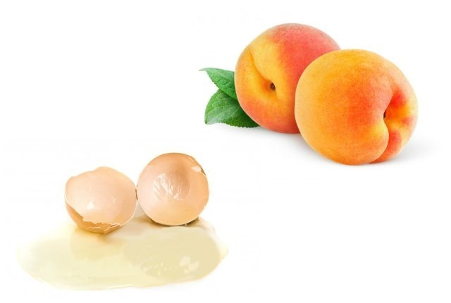 Peach And Egg White Face Mask