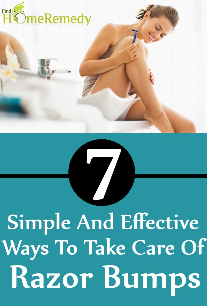 Simple And Effective Ways To Take Care Of Razor Bumps