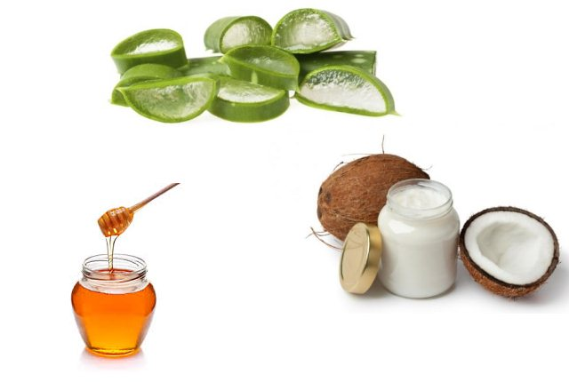 Coconut Oil With Honey And Aloe Vera Gel