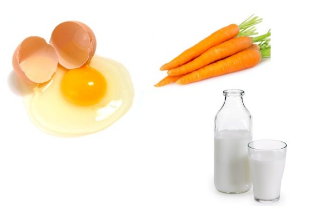 Egg White, Milk And Carrot