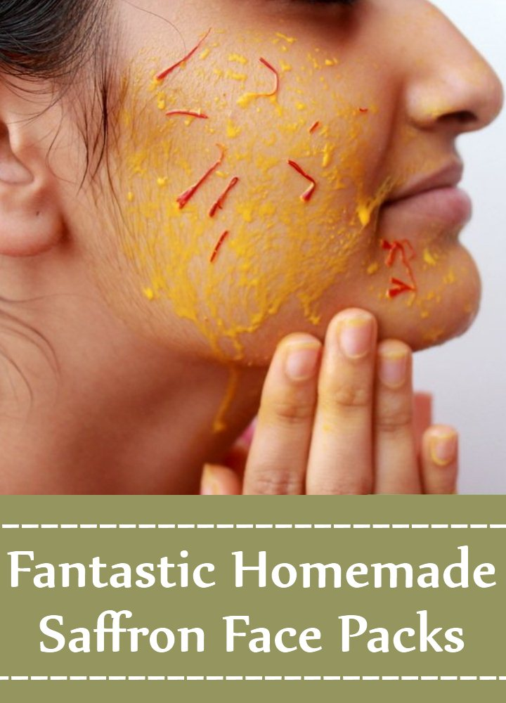 Homemade Saffron Face Packs