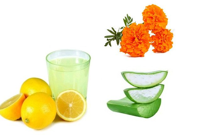 Marigold With Lemon Juice And Aloe Vera Gel