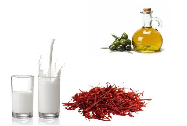 Saffron, Olive Oil And Milk Pack