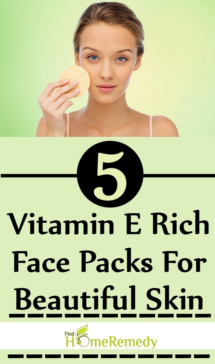 Vitamin E Rich Face Packs For Beautiful Skin