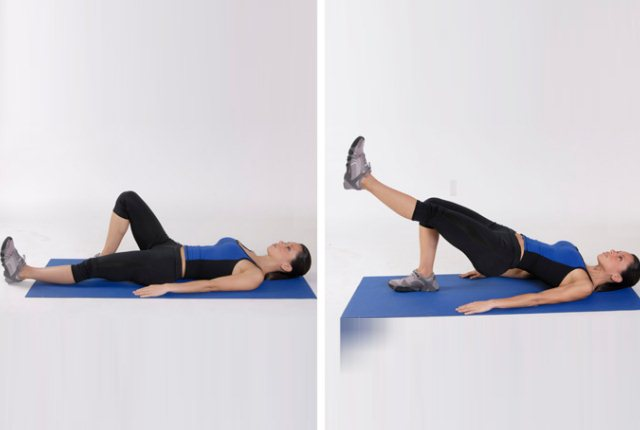 Hip Thrusts With Leg Lift