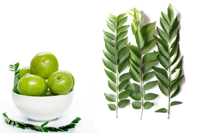 Curry Leaves And Indian Gooseberry Hair Pack