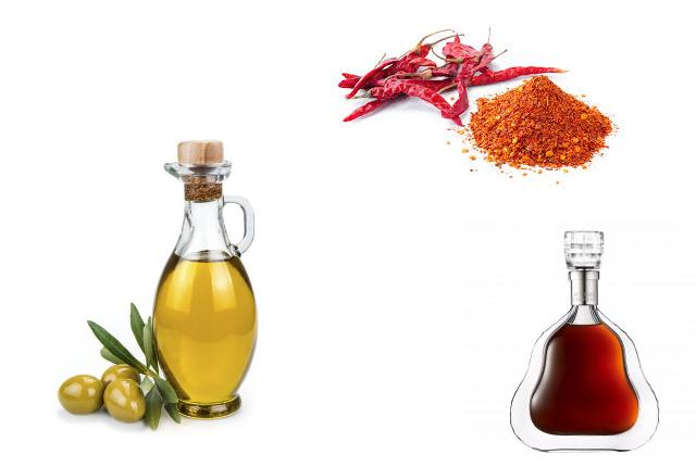 Cayenne Pepper, Cognac And Olive Oil