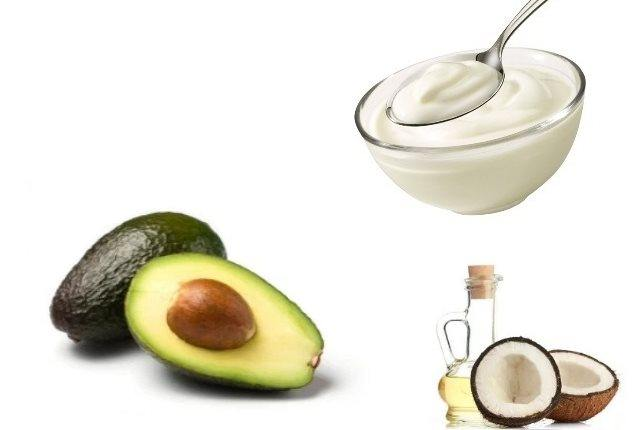Coconut Oil With Yogurt And Avocado