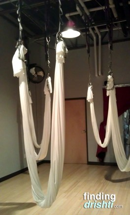 Antigravity yoga also pulls from dance, pilates and calisthenics