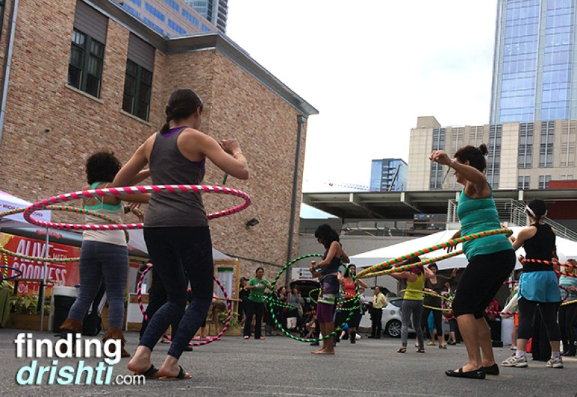 Hula hooping, of course
