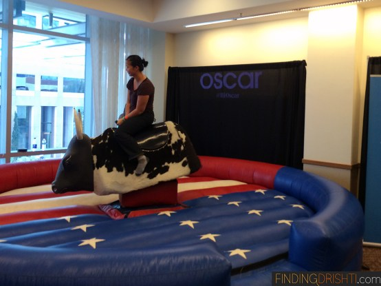 Yup. Riding a mechanical bull.