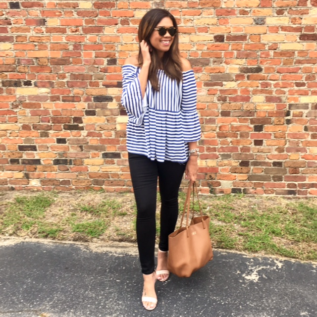 Blue & White Stripes For Fall