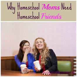 Homeschool Moms Need Homeschool Friends