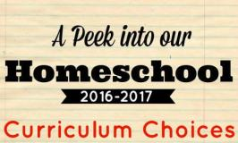 Our 2016-2017 Curriculum Choices