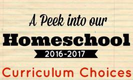 Our 2016-2017 Curriculum Choices