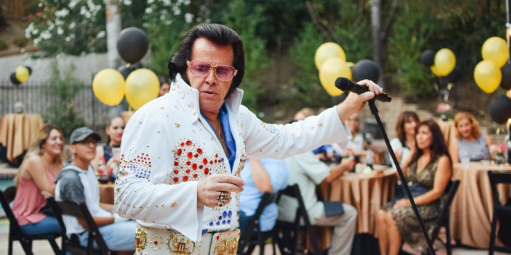 image of a party with an Elvis impersonator as a humorous fun bonus to celebrate progress with ADHD symptoms