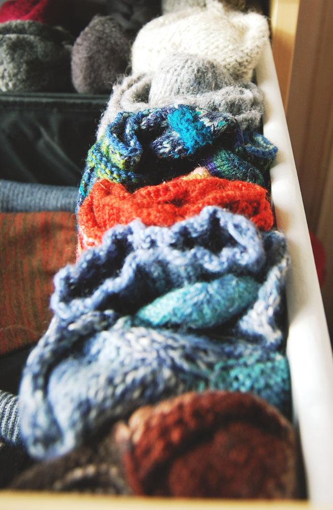 KonMari folded socks