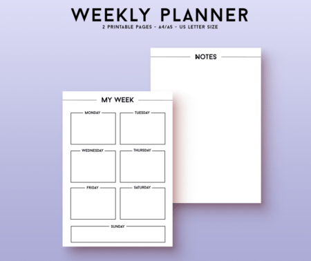 Printable weekly layout
