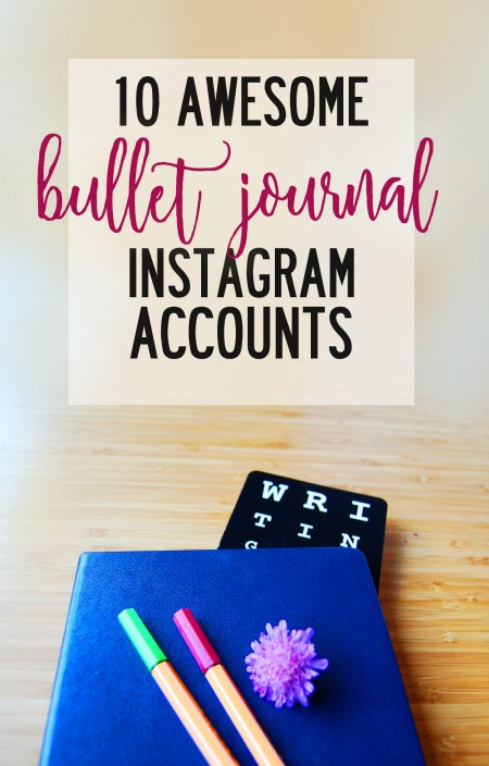 Bullet journal instagram accounts are were all the awesome stuff is happening