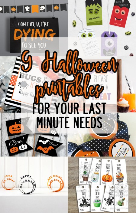Halloween printables for your last minute Halloween needs!