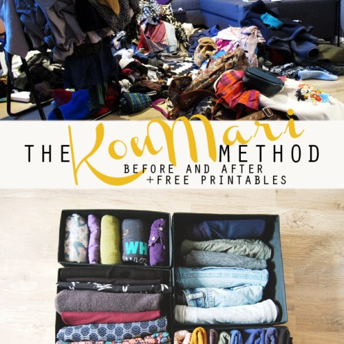KonMari clothes before and after