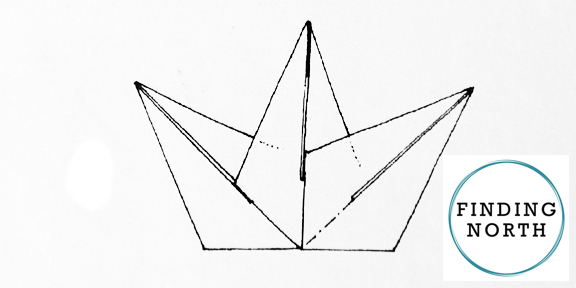Star folding instructions for a paper window star