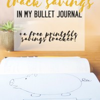 How I track savings in my Bullet Journal