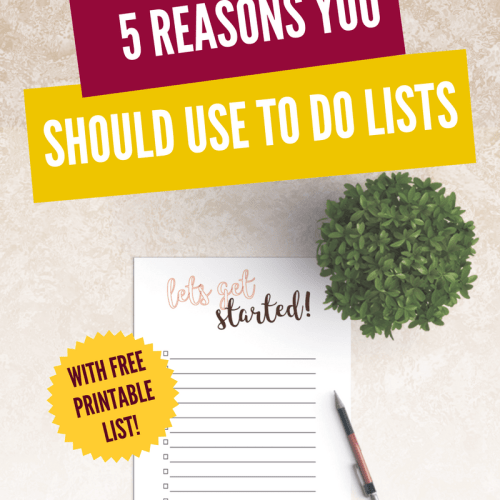 Get more productive! 5 reasons you should use to do lists