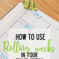 How to use Rolling Weeks in your Bullet Journal