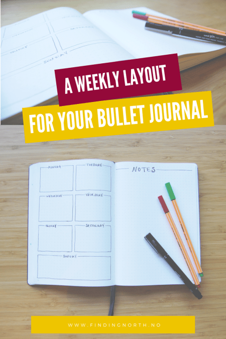 weekly layout for your bullet journal