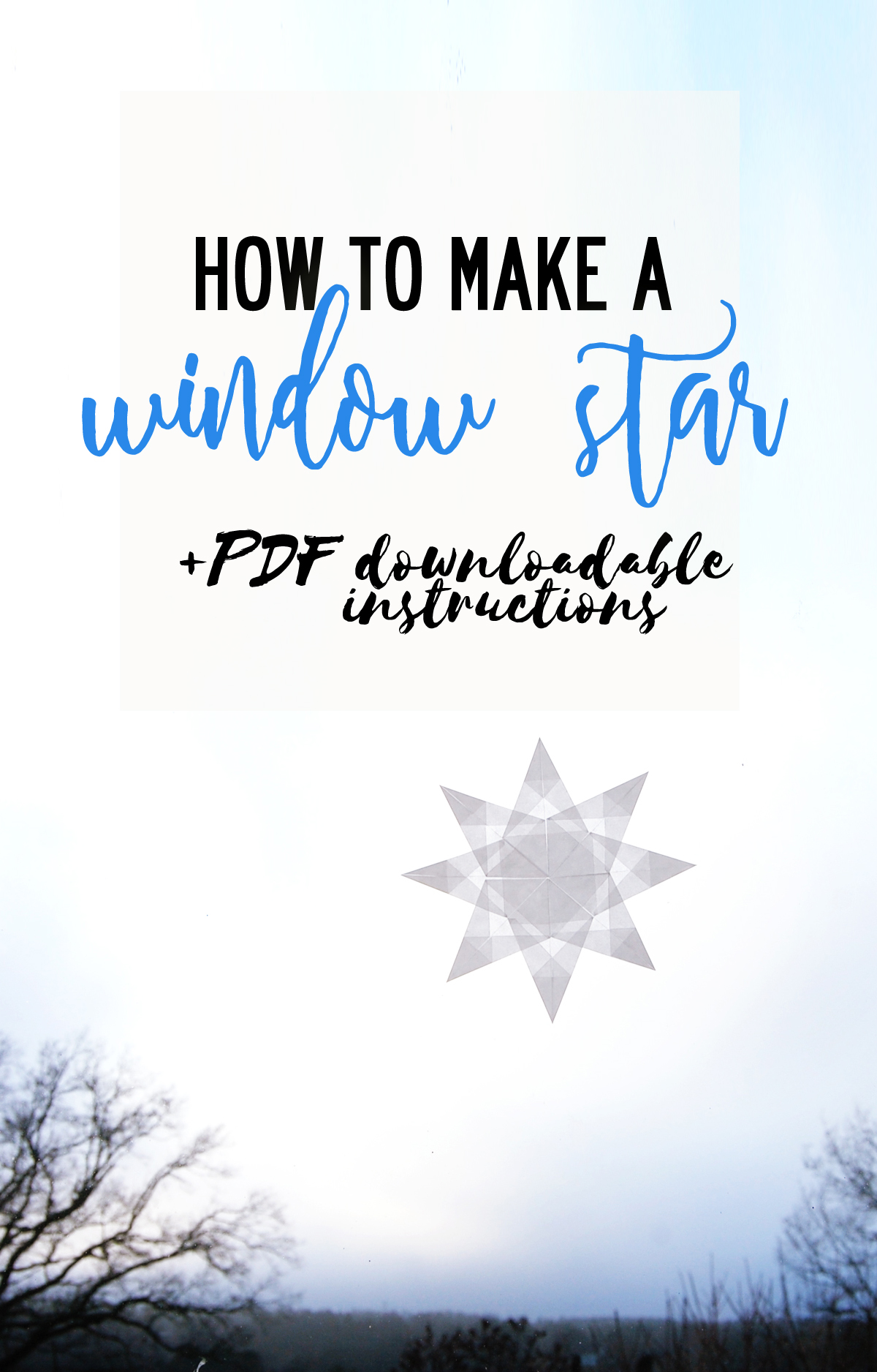 How to make a snow crystal window star