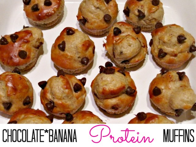 Banana Chocolate Chip Protein packed Muffins