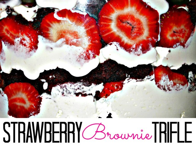 Strawberry & Brownie Trifle