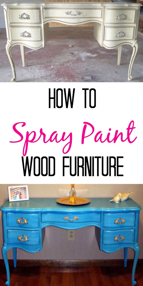 How To Spray Paint Wood Furniture. Easy Tutorial With Step By Step  Pictures. Easy