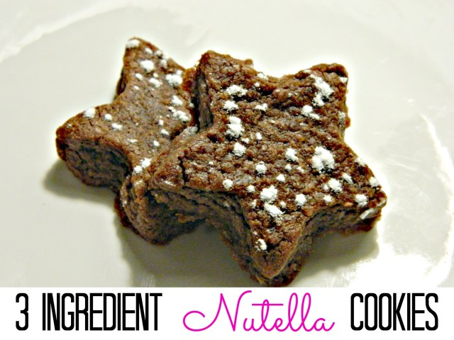 Nutella Cookies!  Only 3 ingredients