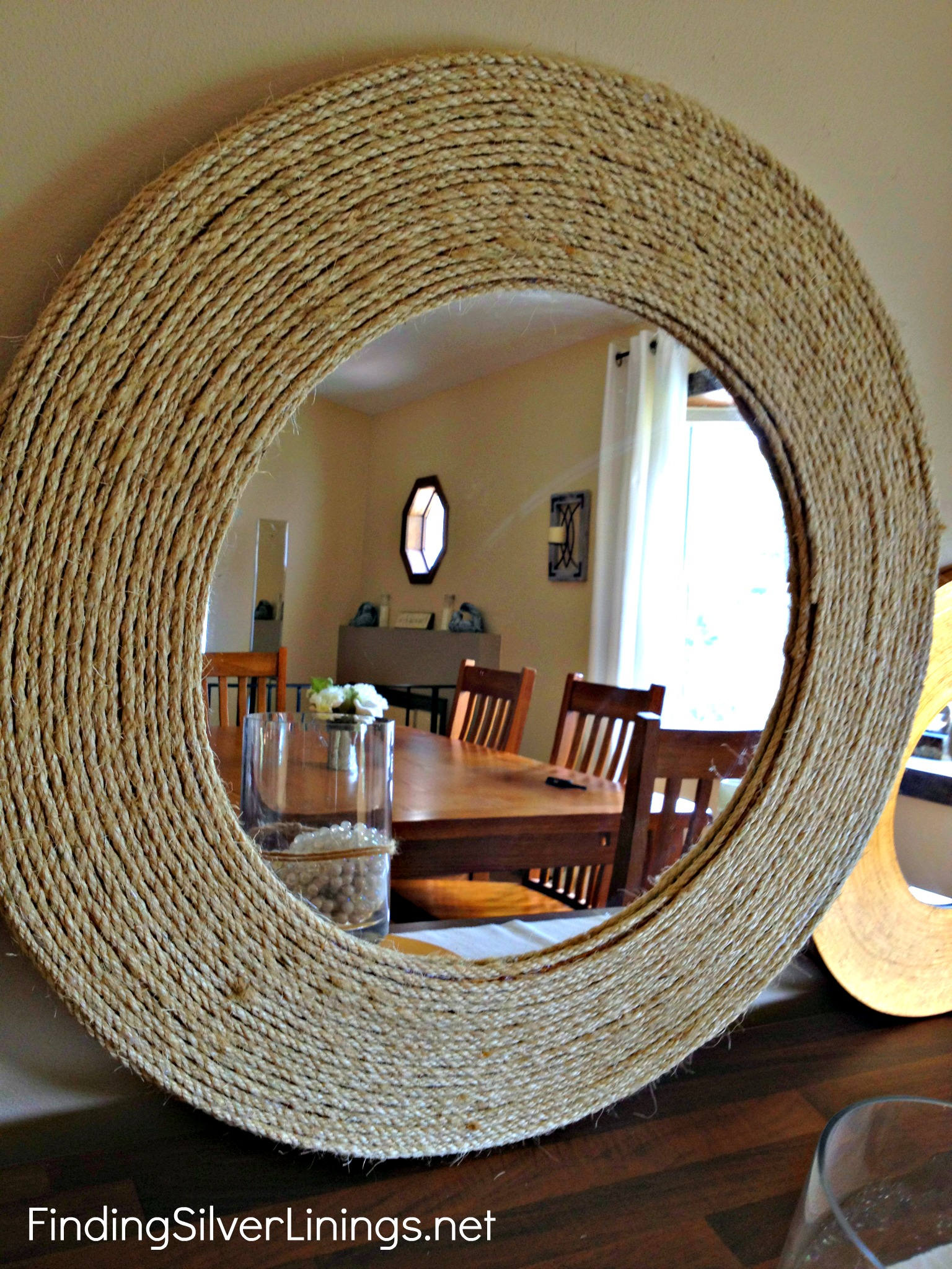 Completely new Pinterest Challenge: D-I-Y Rope Mirror | Finding Silver Linings UL36