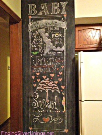 baby shower chalkboard art