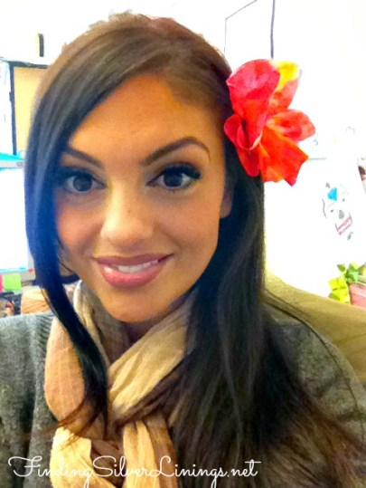 Adorable flower hair pin made out of a coffee filter  sooo cute