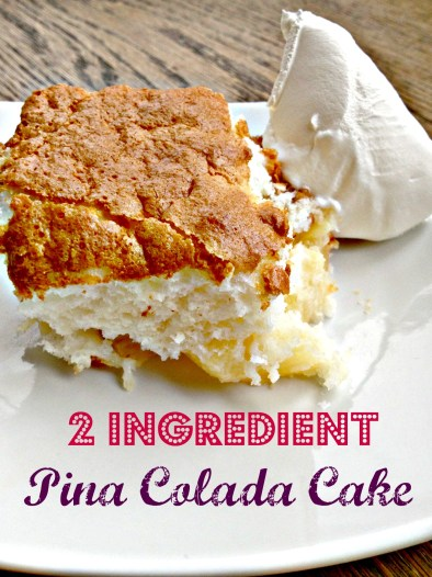 Fat free 2 Ingredient Pina Colada Cake!  Is this real life?!