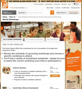 DIY workshops at Home Depot