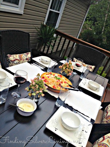 Pretty patio dining