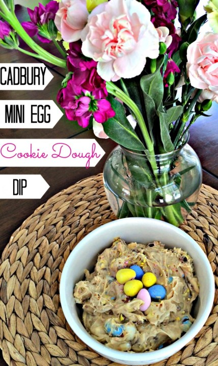 Cadbury mini egg cookie dough dip. Hello Easter!