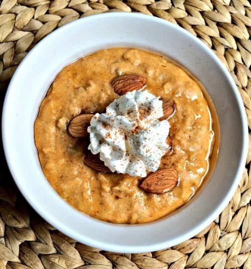 Pumpkin pie oatmeal!
