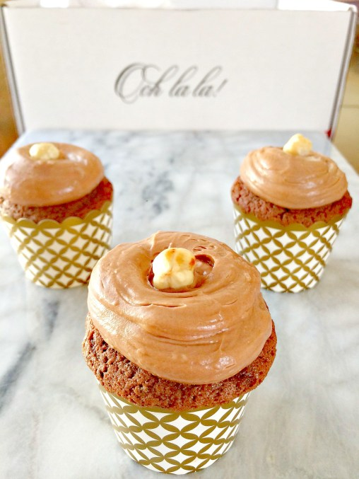 These cupcakes are to die for.  Nutella frosted chocolate.  Pre measured ingredients sent straight to your door.