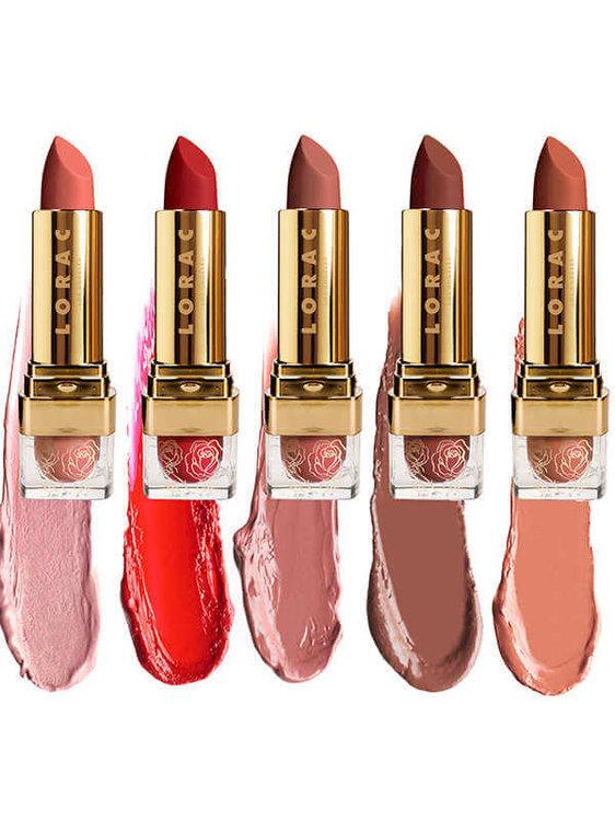 lorac x beauty and the best lipsticks