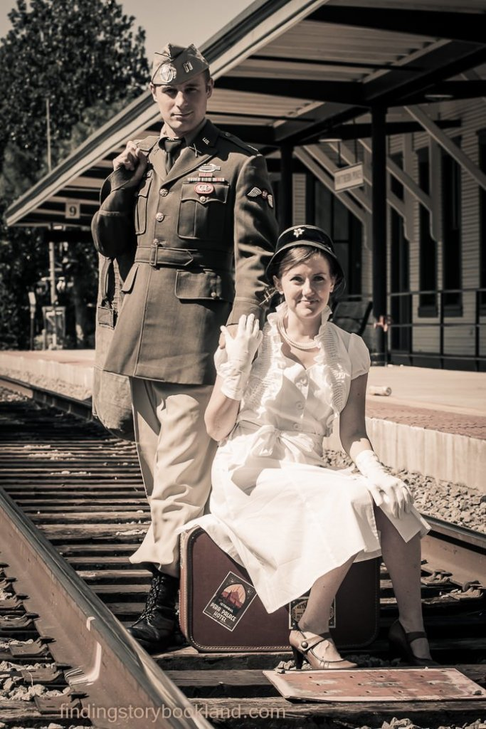 World War II Vintage Photo Shoot Tutorial