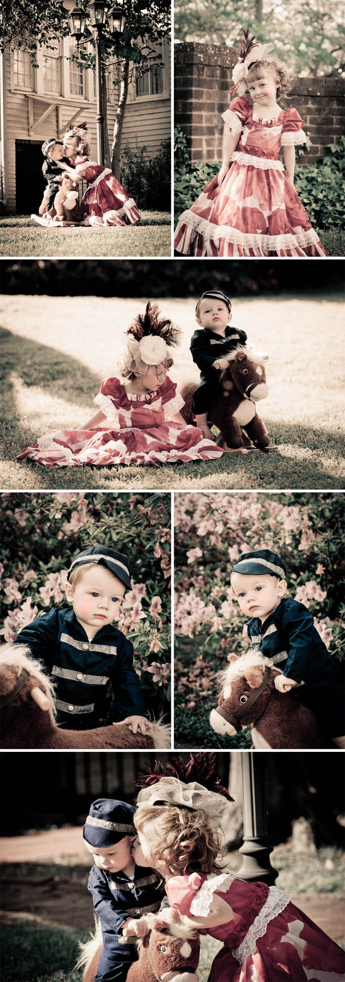 Southern Belle and Drummer Boy themed children's stylized photo shoot tutorial and guide