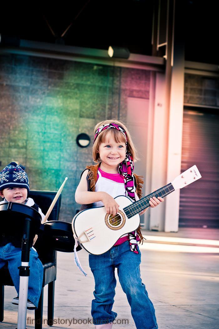 Rock Star Themed Children's photo shoot