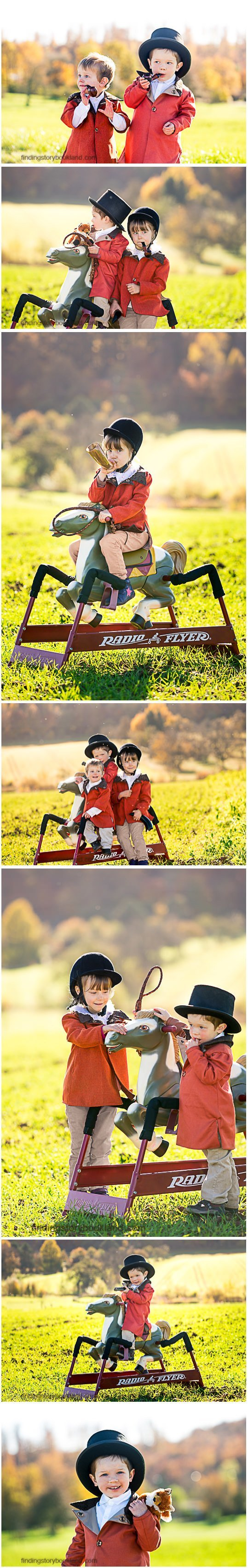Fox Hunting Themed Childrens photo shoot 3